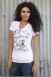 Pray for Me I Feel a Sin Coming On--V-Neck Burnout T-1555 Original Cowgirl Clothing Co