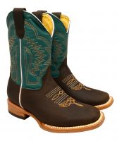 3104 Turquoise - Kid's Rodeo Boots