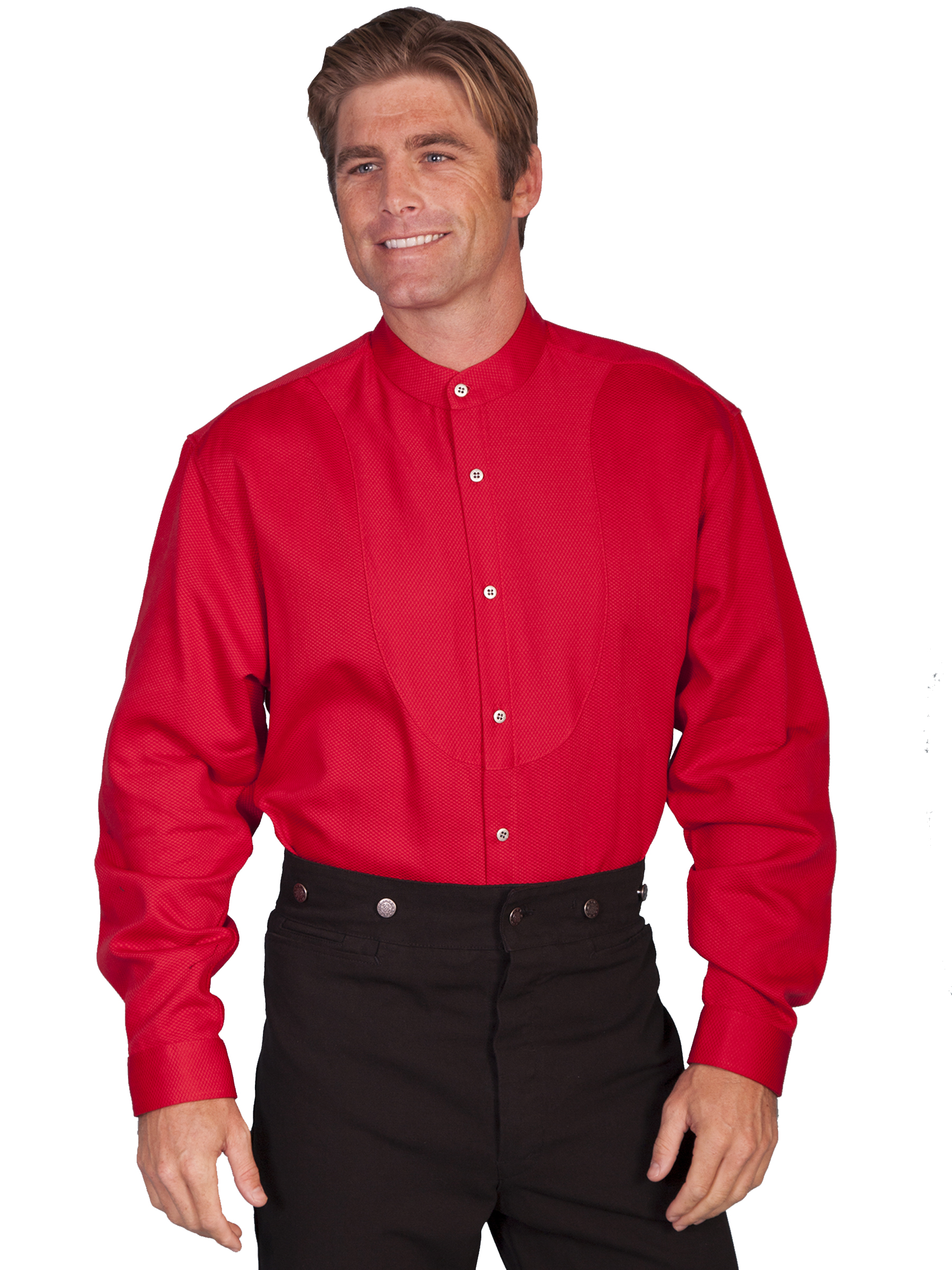 Scully Mens 540850 Button Front w//Bib Inset Shirt