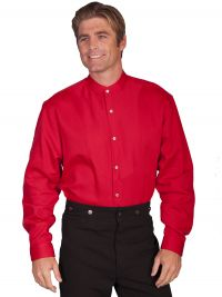 Wahmaker Full Button Front with Inset Bib - Red