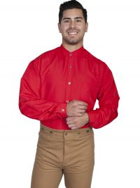 Wahmaker Full Button Front Solid Shirt - Red