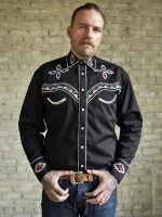 Men's Native Embroidered Western Shirt