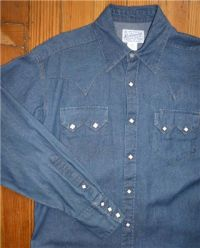 Women's Classic Stonewash Denim Sawtooth Western Shirt 740-DS by Rockmount Ranch Wear