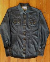Women's Classic Stonewash Tencel Denim Sawtooth Western Shirt 740-DT by Rockmount Ranch Wear