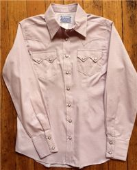 Women's Pink Windowpane Check Shirt 7452-P by Rockmount Ranch Wear