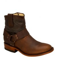 Cara - Brown Harness Ankle Boot