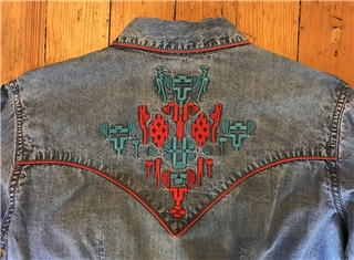 6a4ef32f Women's Vintage Denim Native Embroidered Western Shirt by Rockmount  Ranchwear