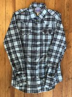 Women's Classic Shadow Plaid Sawtooth Western Shirt 793-TUR by Rockmount Ranch Wear