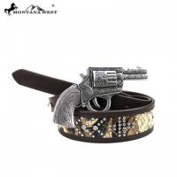 BT-016 Montana West Western Camo Cowgirl Design Collection Belt