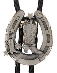 Boot and Horseshoe Bolo Tie Made in the USA