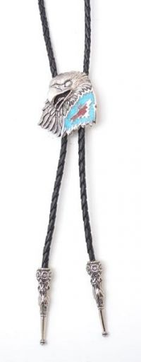 Eagle Head and Thunderbird Bolo Tie Made in the USA