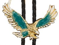 Turquoise Eagle Bolo Tie Made in the USA