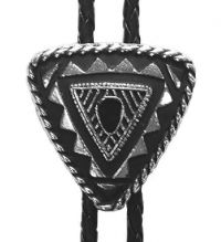 Special Triangular Bolo Tie Silver Plated Made in the USA