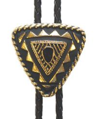 Special Triangular Bolo Tie Gold Plated Made in the USA