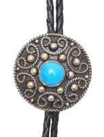 German Silver Tuquoise Bolo Tie