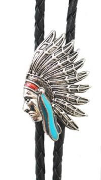 Indian Head Bolo Tie Made in the USA