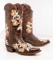Lady Style 940FB Brown Crack Flowers