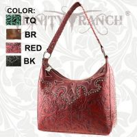 TR-CA-119 Montana West Cheyenne Autumn Collection Trinity Ranch Handbag-Red