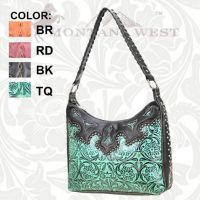 TR-CA-119 Montana West Cheyenne Autumn Collection Trinity Ranch Handbag-Turquoise
