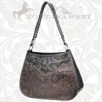 CA-8203 Cheyenne Autumn Collection Trinity Ranch Handbag-Black