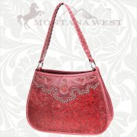 CA-8203 Cheyenne Autumn Collection Trinity Ranch Handbag-Red