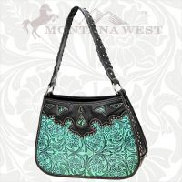 CA-8203 Cheyenne Autumn Collection Trinity Ranch Handbag-Turquoise
