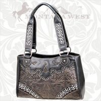 CA-8335 Cheyenne Autumn Collection Trinity Ranch Handbag-Black