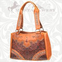 CA-8335 Cheyenne Autumn Collection Trinity Ranch Handbag-Brown
