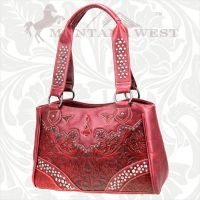 CA-8335 Cheyenne Autumn Collection Trinity Ranch Handbag-Red
