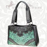 CA-8335 Cheyenne Autumn Collection Trinity Ranch Handbag-Turquoise