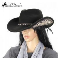 MW CHT-9024 Montana West Cowgirl Collection Hat In Coffee/Med.