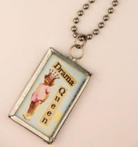 Drama Queen Charm Necklace J-2470