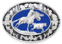 Cattle Roping Belt Buckle Made in USA