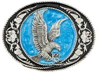 Eagle Buckle Black And Blue Enamel