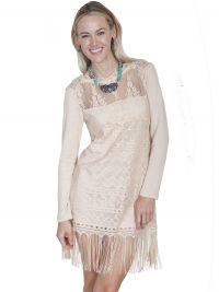 Honey Creek  lace dress features long sleeves