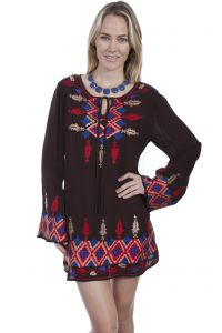 Honey Creek Southwest chic arrow and geometric dress