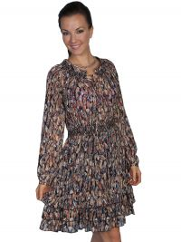 Honey Creek Lightweight feather print dress