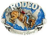 Rodeo America's No 1 Sport Belt Buckle Made in USA