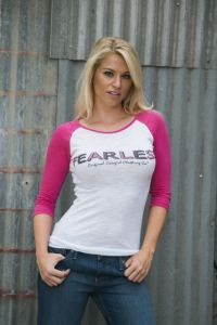 Fearless Two Colors  T-1845 Sassy Pink or Purple Rush