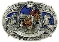 Large Championship Rodeo Belt Buckle Made in USA