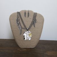 Feather Chief Necklace Set J-2492
