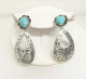 New Cambria Tear Drop Earring J-4012 Silver