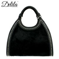 LEA-6006 Delila 100% Genuine Leather Collection-Black