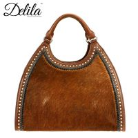 LEA-6006 Delila 100% Genuine Leather Collection-Brown