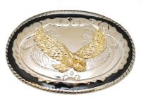 Eagle Belt Buckle with Black Rim Made in USA