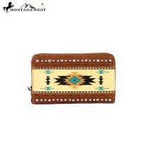 MW159-W003 Montana West Western Aztec Collection Wallet-Brown