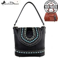 MW161G-916 Montana West Concealed Handgun Collection Handbag-Black