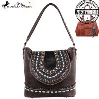 MW161G-916 Montana West Concealed Handgun Collection Handbag-Coffee