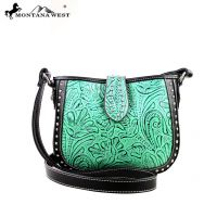 MW175-8287 Montana West Tooling Collection Messenger Handbag-Turquoise