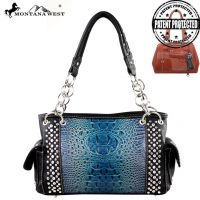 MW188G-8085 Montana West Concealed Handgun Collection Handbag-Black